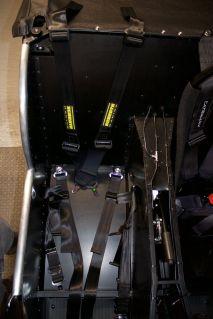 Caterham Academy seat belts